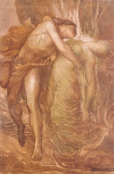 George Frederick Watts (1817-1904)-Orpheus_and_Eurydice