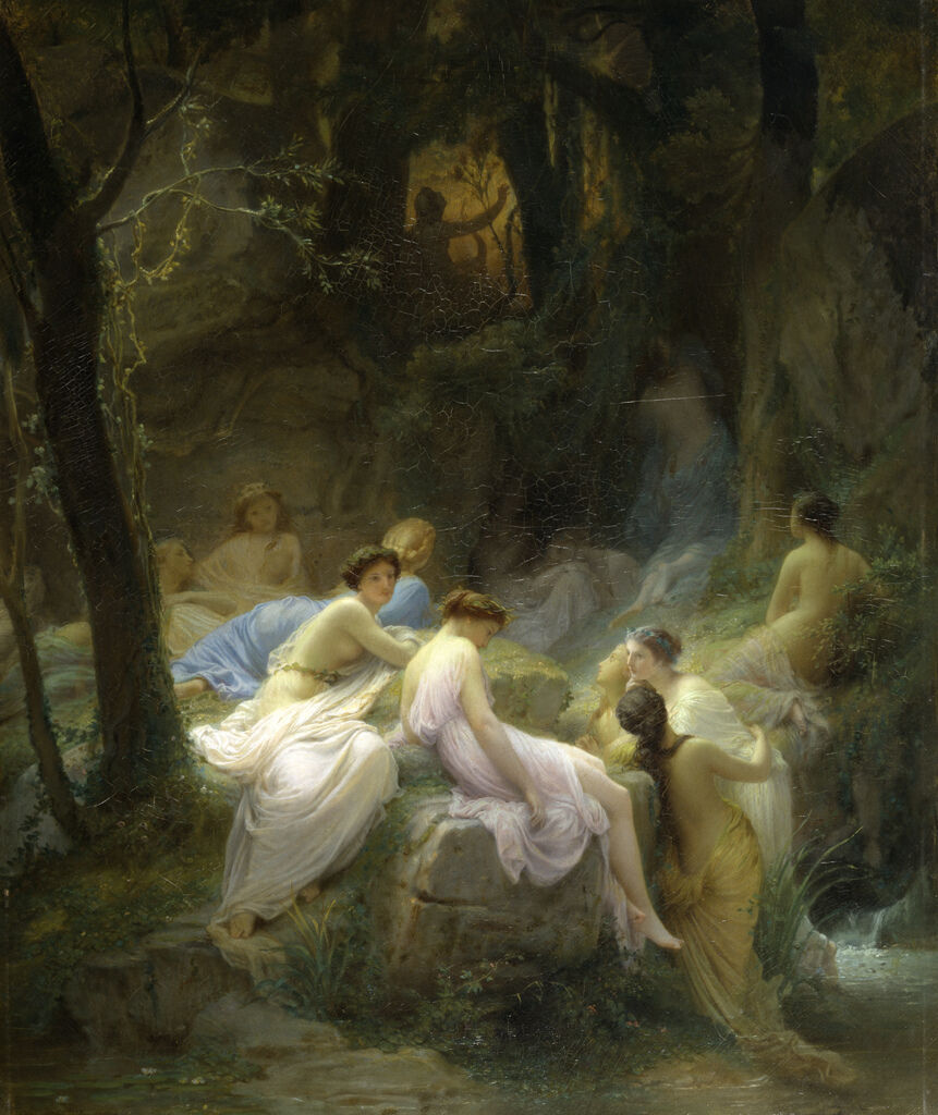 Charles_François_Jalabert_-_Nymphs_Listening_to_the_Songs_of_Orpheus_-_Walters_3737