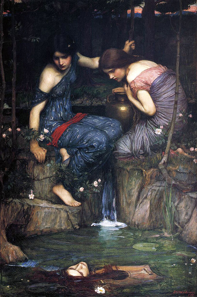 Nymphs Finding the Head of Orpheus - (John William Waterhouse - 1900)