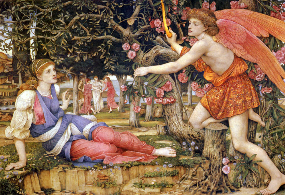 John Roddam Spencer Stanhope (1829-1908 Love_And_The_Maiden