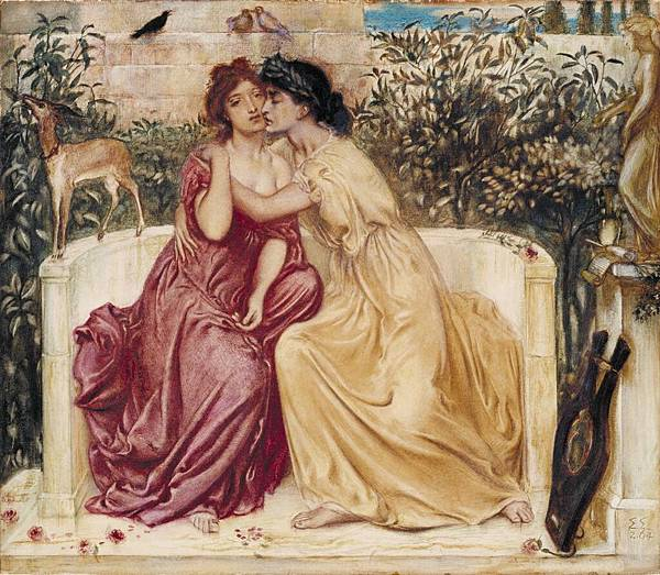 Sappho and Erinna in a Garden at Mytilene 1864