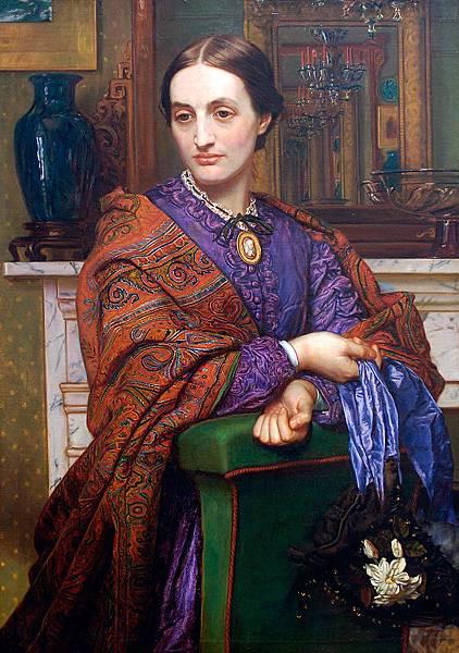 Portrait of Fanny Holman Hunt - (William Holman Hunt - 1866-1868)