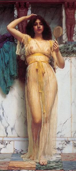 Godward_The_Mirror_1899