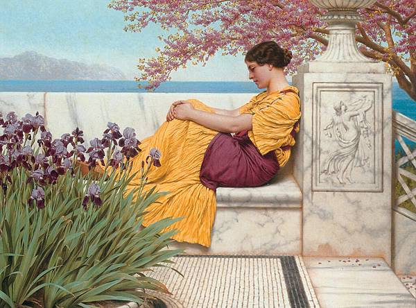Godward-Under_the_Blossom_that_Hangs_on_the_Bough-1917