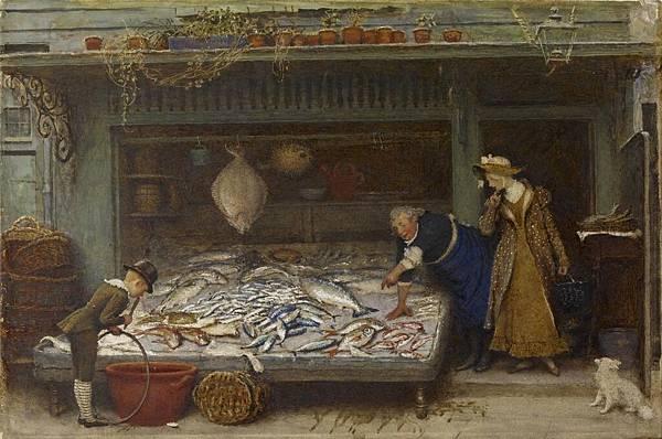 Frederick Walker (1840-1875 A_Fishmonger's_Shop_-_Walters_37943