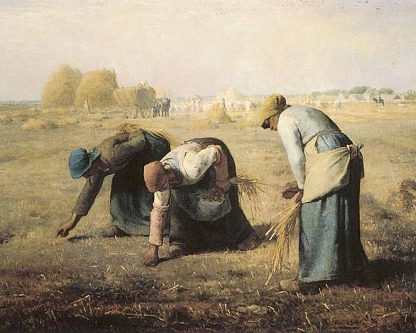 Jean-Francois Millet (1814-1875) 米勒 The_Gleaners