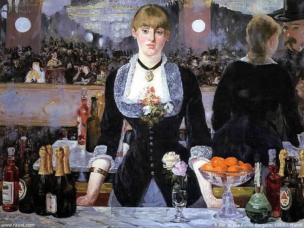 Edouard Manet (1832-1883)-a bar at the molies-bergere