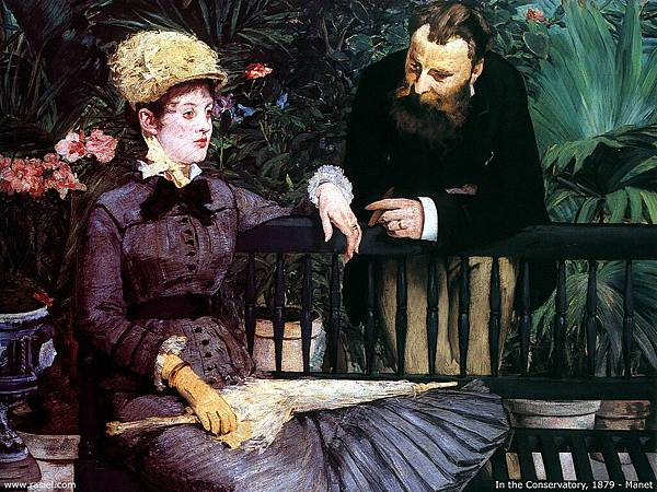 Edouard Manet (1832-1883)-in the conservatory
