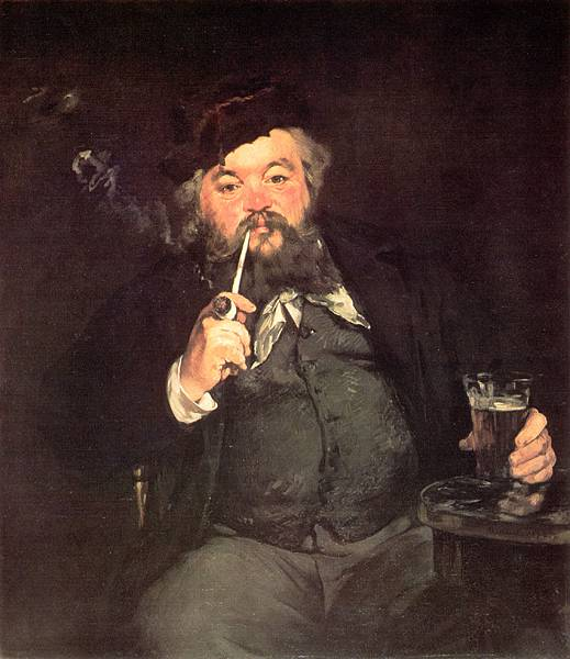 Edouard Manet (1832-1883)-Le_Bon_Bock_A_Good_Glass_of_Beer