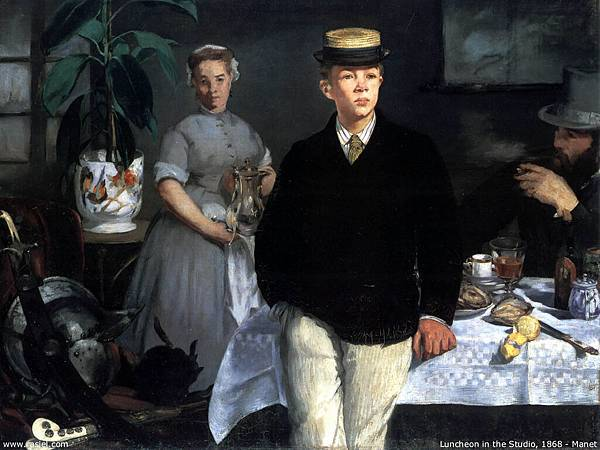 Edouard Manet (1832-1883)-Luncheon in the studio