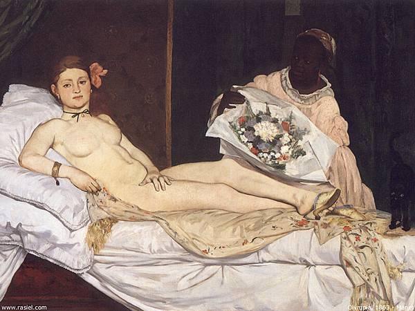 Edouard Manet (1832-1883)-olympia_