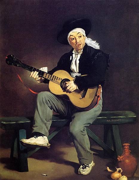 Edouard Manet (1832-1883)-The Spanish Singer aka Guitarrero - (Edouard Manet - 1860)