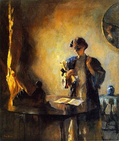 Frank Weston Benson (1862-1951)-Interior