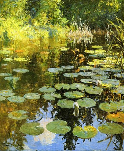 Frank Weston Benson (1862-1951)-Lily Pond