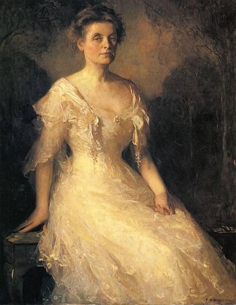 Frank Weston Benson (1862-1951)-Portrait of a Lady (Elizabeth Perley Kinnicutt)