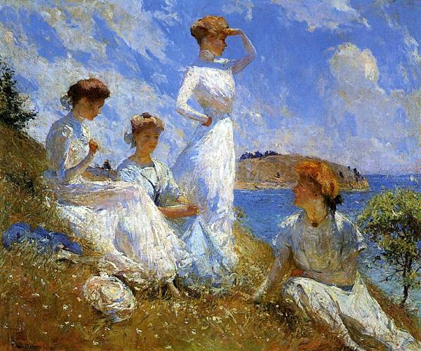 Frank Weston Benson (1862-1951)-Summer