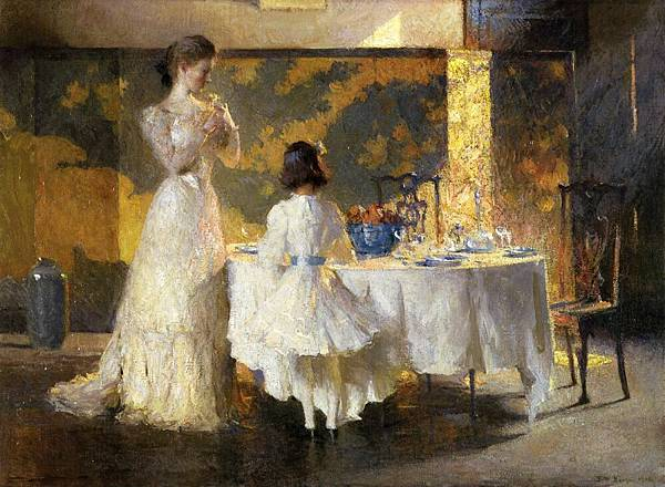 Frank Weston Benson (1862-1951)-The Artist's Daughters (also known as The Dining Room)