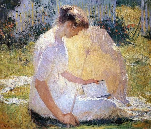 Frank Weston Benson (1862-1951)-The Reader