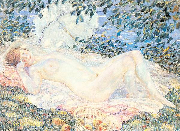 Frederick Carl Frieseke (1874-1939) Autumn (1914)