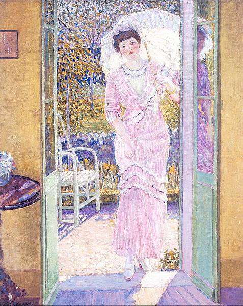 Frederick Carl Frieseke (1874-1939) In the Doorway (c.1913)