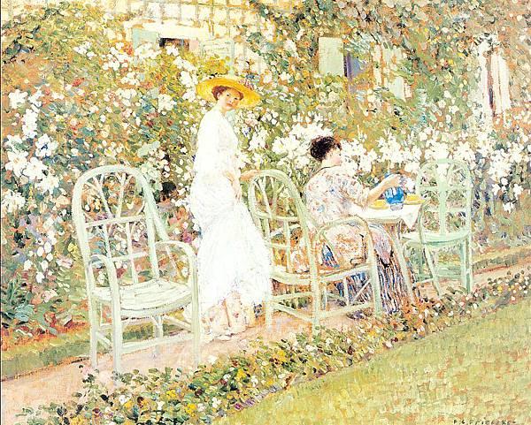 Frederick Carl Frieseke (1874-1939) Lilies (c.1911)