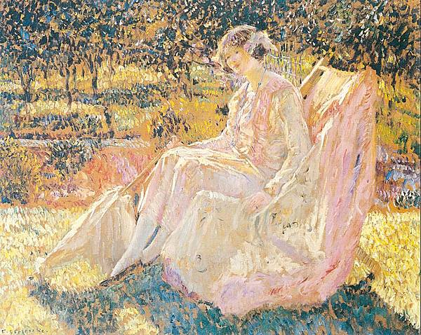 Frederick Carl Frieseke (1874-1939) Sunbath (1914)