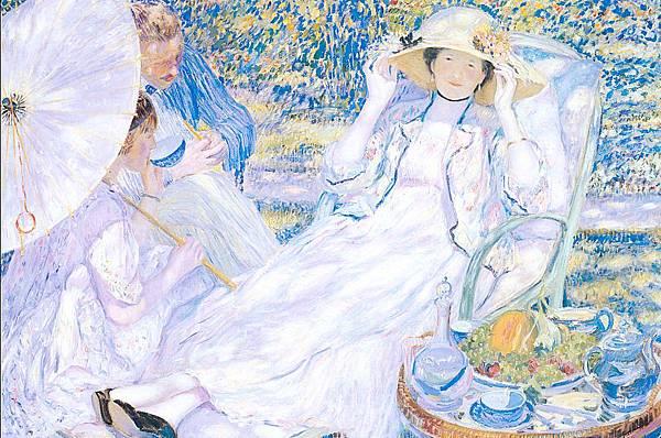 Frederick Carl Frieseke (1874-1939) The Hour of Tea (1914)