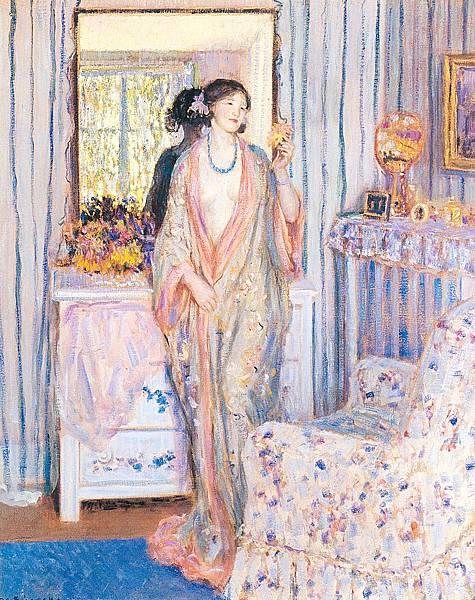 Frederick Carl Frieseke (1874-1939) The Robe (c.1913)