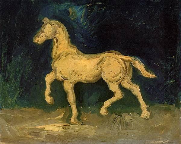 Plaster Statuette of a Horse - (Vincent van Gogh - 1885)