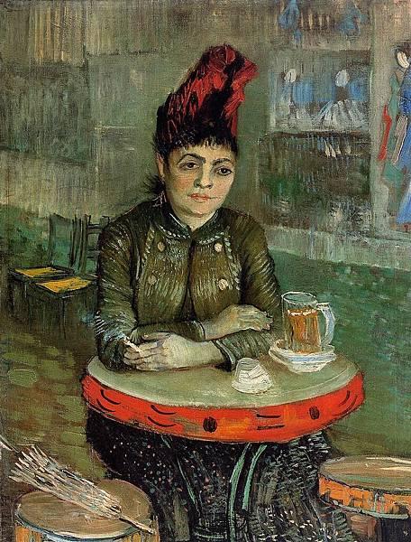 Agostina Sagatori Sitting in the Cafe du Tamborin - (Vincent van Gogh - 1887)