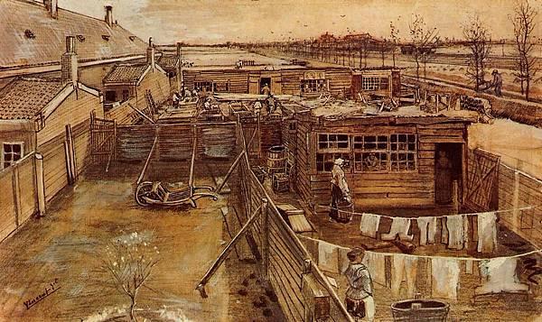 Carpenter's Workshop, Seen from the Artist's Studio - (Vincent van Gogh - 1882)