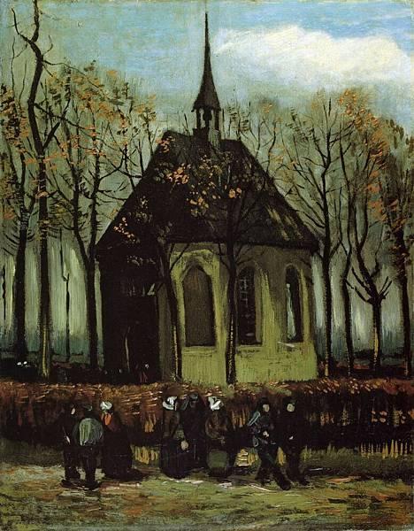 Chapel at Nuenen - (Vincent van Gogh - 1884)