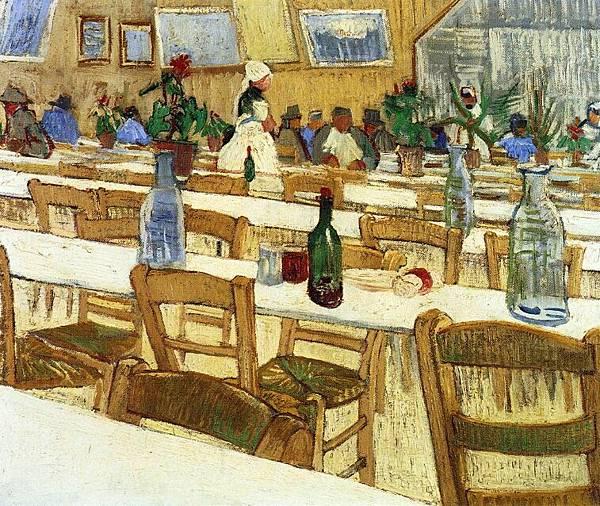 Interior of a Restaurant - (Vincent van Gogh - 1887)  2