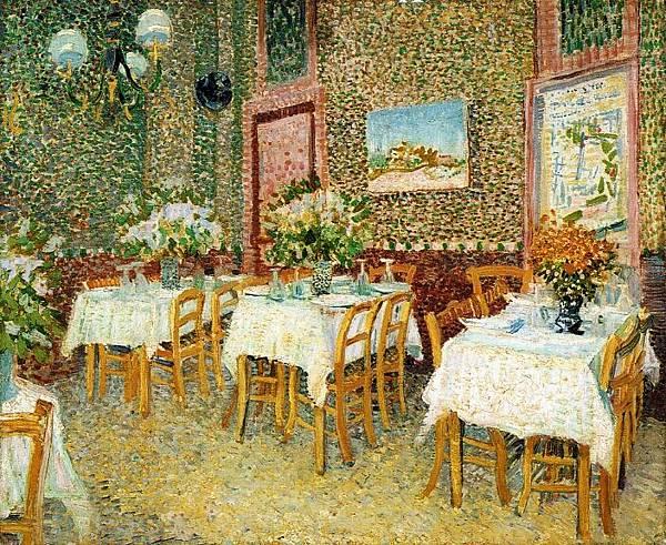 Interior of a Restaurant - (Vincent van Gogh - 1887)