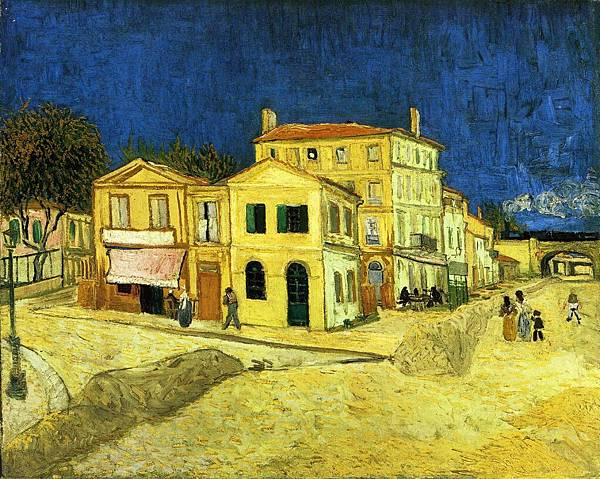 The Street, the Yellow House - (Vincent van Gogh - 1888)