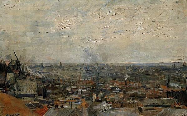 View of Paris from Montmartre - (Vincent van Gogh - 1886)