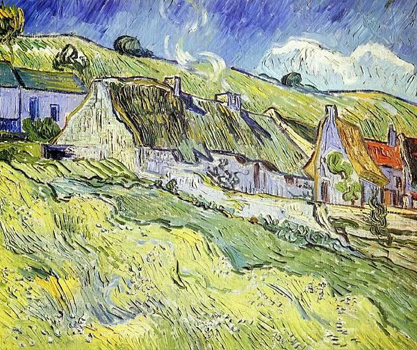 A Group of Cottages - (Vincent van Gogh - 1890)