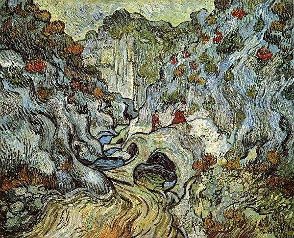 A Path through a Ravine - (Vincent van Gogh - 1889)
