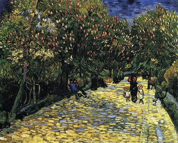 Avenue with Flowering Chestnut Trees - (Vincent van Gogh - 1889)