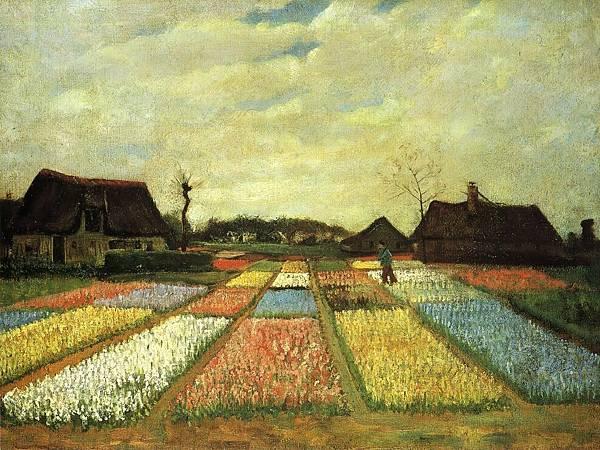 Bulb Fields aka Flower Beds in Holland - (Vincent van Gogh - 1883)