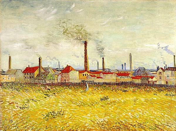 Factories at Asnieres, Seen from the Quai de Clichy - (Vincent van Gogh - 1887)