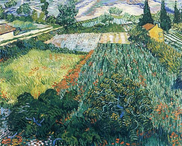 Field with Poppies - (Vincent van Gogh - 1889)