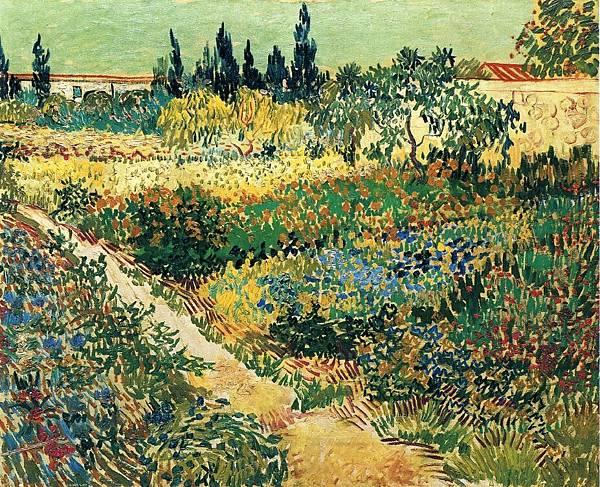 Garden with Flowers - (Vincent van Gogh - 1888)