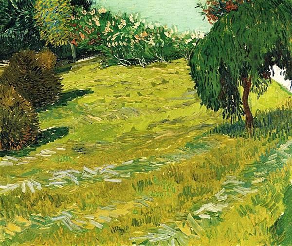 Garden with Weeping Willow - (Vincent van Gogh - 1888)