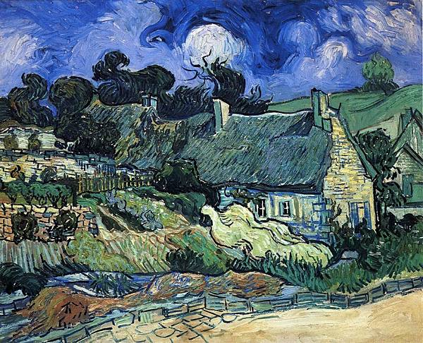 Houses with Thatched Roofs, Cordeville - (Vincent van Gogh - 1890)