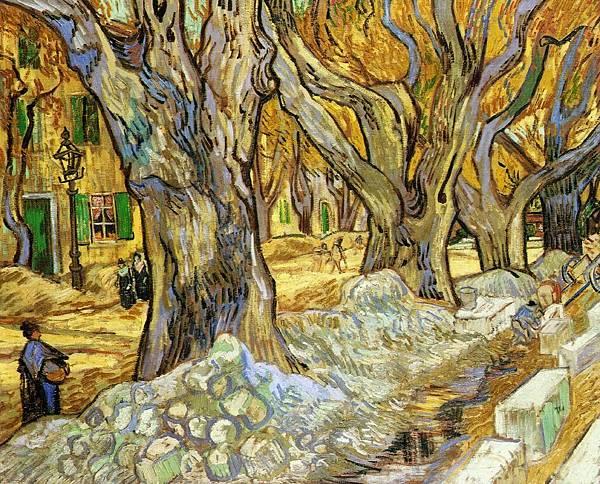 Large Plane Trees - (Vincent van Gogh - 1889)