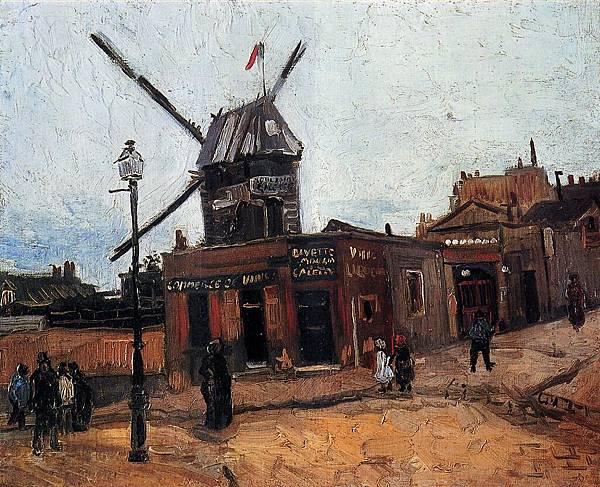 Le Moulin de la Galette - (Vincent van Gogh - 1886)