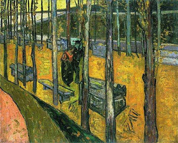 Les Alychamps, Autumn - (Vincent van Gogh - 1888) 2