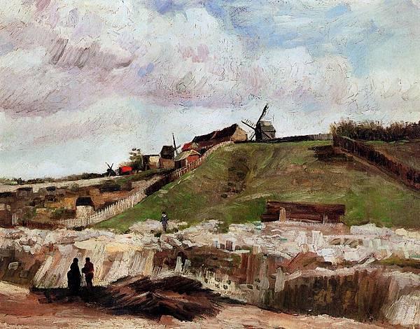 Montmartre- the Quarry and Windmills - (Vincent van Gogh - 1886)