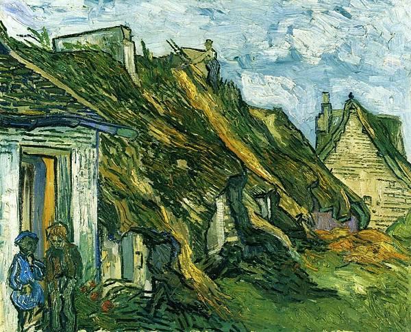 Old Cottages, Chaponval - (Vincent van Gogh - 1890)